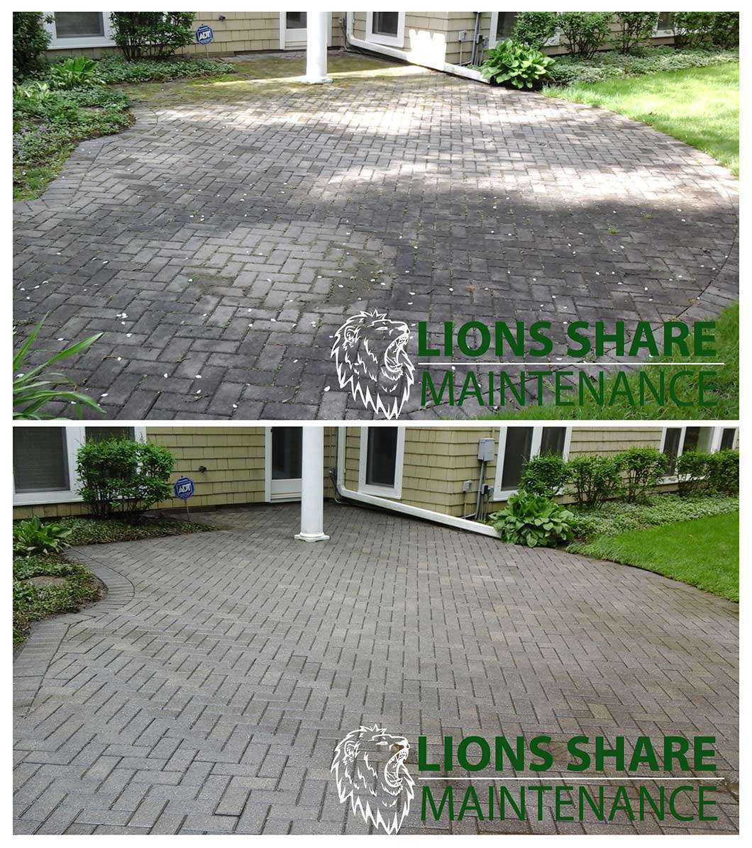 Pressure wash pavers in St. Paul and Minneapolis Minnesota areas