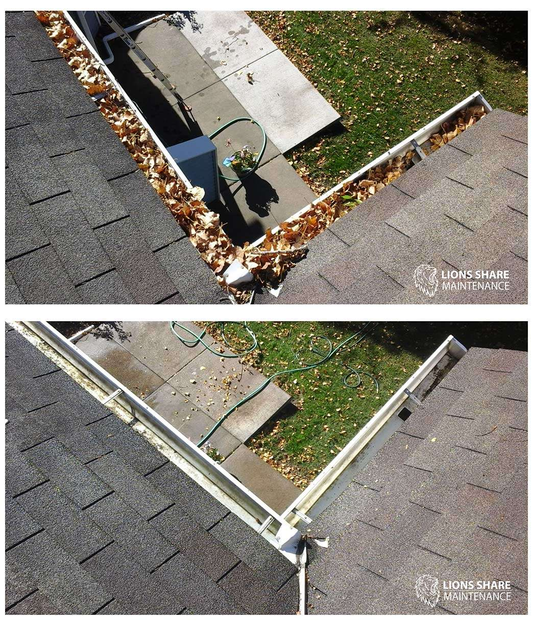 Gutter cleaning services - get rid of debris, leaves, sticks and more - St. Paul and Minneapolis Minnesota